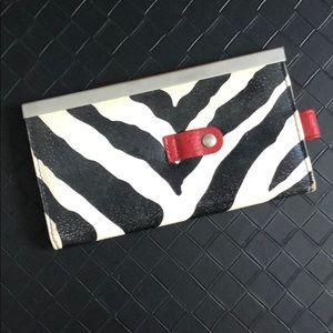 Handbags - Zebra print wallet/clutch